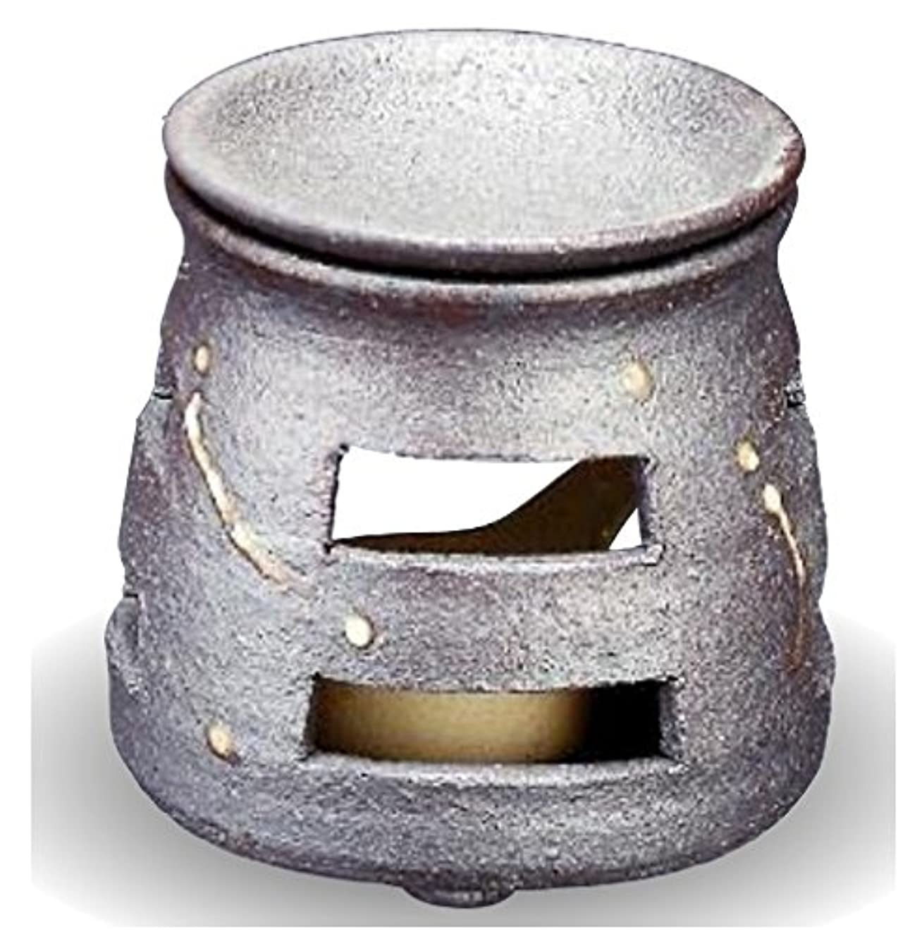アセガム真夜中常滑焼 茶香炉(アロマポット)径9×高さ10cm