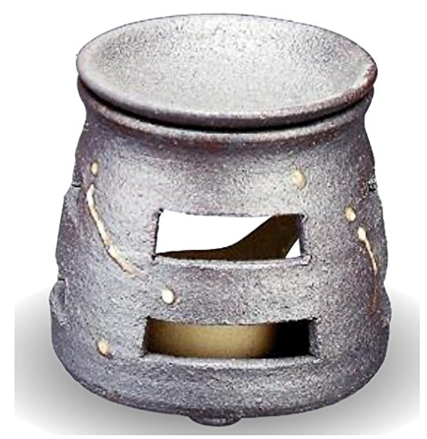 マート歩き回る底常滑焼 茶香炉(アロマポット)径9×高さ10cm