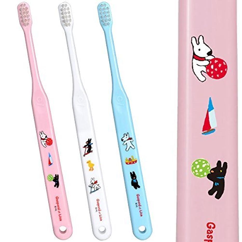 純粋なかき混ぜる背骨Ci602 仕上げ磨き用歯ブラシ Mふつう リサとガスパール 5本入