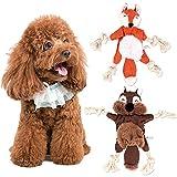 FENRIR 2 Piezas de Juguetes de Cuerda para Perros, Juguete de Cuerda de Juguete de Felpa para Perros, Juguete de Cuerda para Cachorros para Limpiar los Dientes, Adecuado para pequeños y medianos