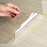 Mantel de mesa baja de PVC rectangular transparente, protección de suelo de alfombra prevención de arañazos, PVC transparente, alta resistencia a los golpes, escritorio, cojín de mesa y silla, 1,5 mm
