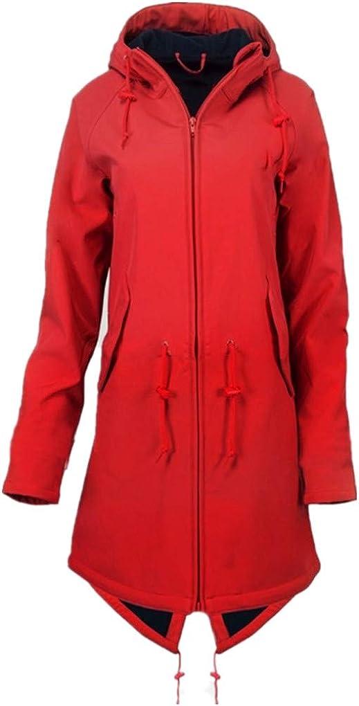 Regenmantel//Dorical Damen Gro/ße Gr/ö/ßen Jacket Draussen Wasserdicht Mit Kapuze Travel Regenjacke Winddicht /Übergr/ö/ße Outdoor Lang M/äntel