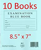 TestingForms.com 8.5' x 7' Examination Blue Book 8 Sheets 16 Pages 10 Booklets
