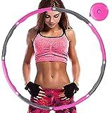 Aoweika Hula Hoop Fitness, Hula Hoop para Adultos, Diseño de Ancho Ajustable Desmontable de 8 Secciones (28-37,4 in)...