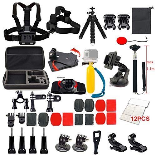 Lifelimit Accessories Starter Kit Compatible with Gopro Hero 8/7/6/Fusion/5/Session 4/3/2/HD Hero Black Silver Cameras WiMius Rollei QUMOX Campark AKASO APEMAN DBPOWER