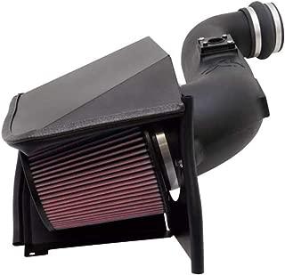 K&N Cold Air Intake Kit with Washable Air Filter: 2005-2007 Chevy/GMC Heavy Duty (Silverado 2500, Silverado 3500, Sierra 2500, Sierra 3500) 6.6L V8 Diesel, Red Oiled Filter, 57-3057