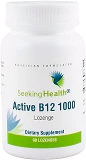 Active B12 1000   1000 mcg of B12 as Adenosylcobalamin and Methylcobalamin   Supports Healthy Metabolism, Methylation, Cognitive Health   60 Lozenges   Seeking Health