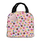 Best WL Lunch Boxes - Colorful Cupcakes Lunch Bag For Women&Men Lunch Box Review