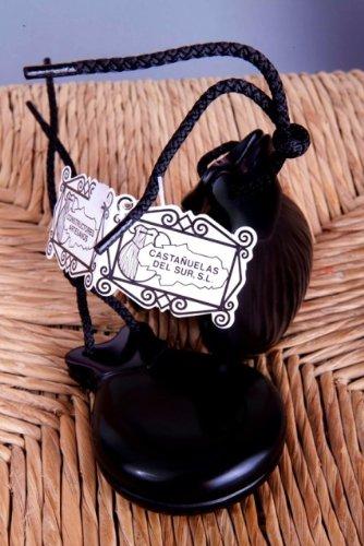Paire de Castagnettes Flamenco Noir Fibre de verre modèle amateur – Comprend une housse de transport