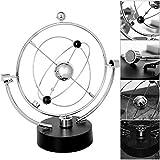 Scrivania Ornamento Modello globo Rotazione Perpetual Motion Strumento Orbita magnetica Ne...