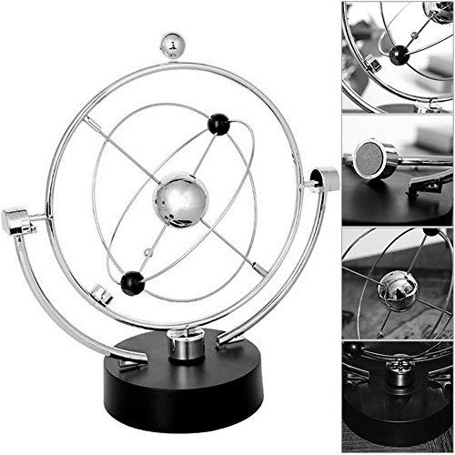 Scrivania Ornamento Modello globo Rotazione Perpetual Motion Strumento Orbita magnetica Newton Culla Acciaio Rotante Altalena Equilibrio Balls Decorazione della casa cinetico Giocattolo da scrivania