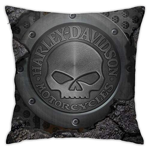 wteqofy Harley Davidson Logo,Pillow Case Cushion Cover Durability Comfortable Winter Holiday Men/Women Sofas Guest Room For Couch Sofa Bed 18inch*18inch