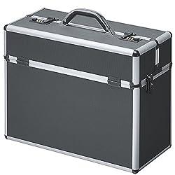 Pilotenkoffer Aluminium Schwarz Mit Zahlenschloss Koffer Alu Alukoffer Metall