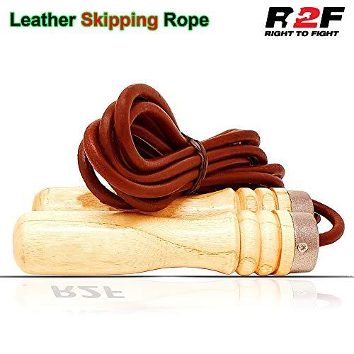 R2F Pelle Salto Corda per Saltare Pelle Veloce Perdita Peso Pugilato Cavo Allenamento Jump Rope