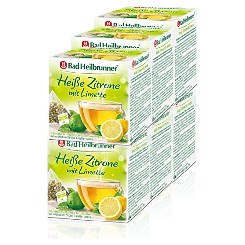Bad Heilbrunner Heiße Zitrone mit Limette 6er Pack