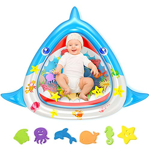 MeiGuiSha Tummy Time Baby Water Mat Large Size 34quotX30quot Infant Toy Inflatable Play Mat for 3 6 9 Months Newborn Baby Toys Boy Girl