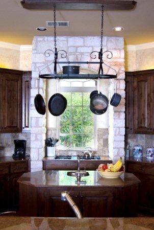 Advantage Components Ornamental Adjustable Oval Pot Rack