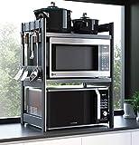 Simple.Home.zgl - Scaffalatura in Alluminio Scaffale Forno A Microonde, Portaspezie in Piedi, Regolabile in Altezza, con Gancio (Size : 58×41×78 cm)