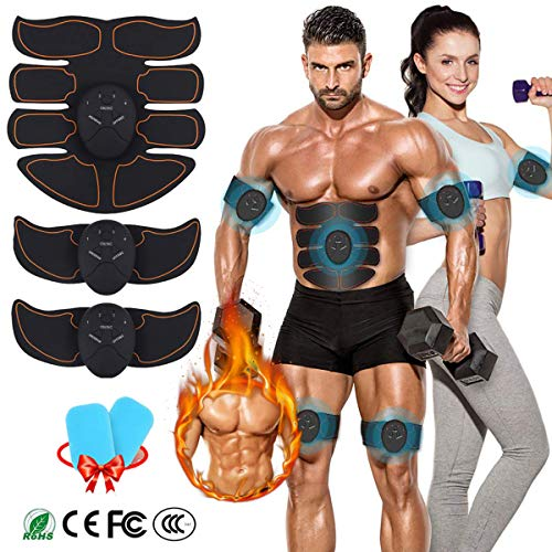 MATEHOM Abs Trainer, EMS Muscle Stimulator, Ab Belt Toning, Fitness Training Gym...
