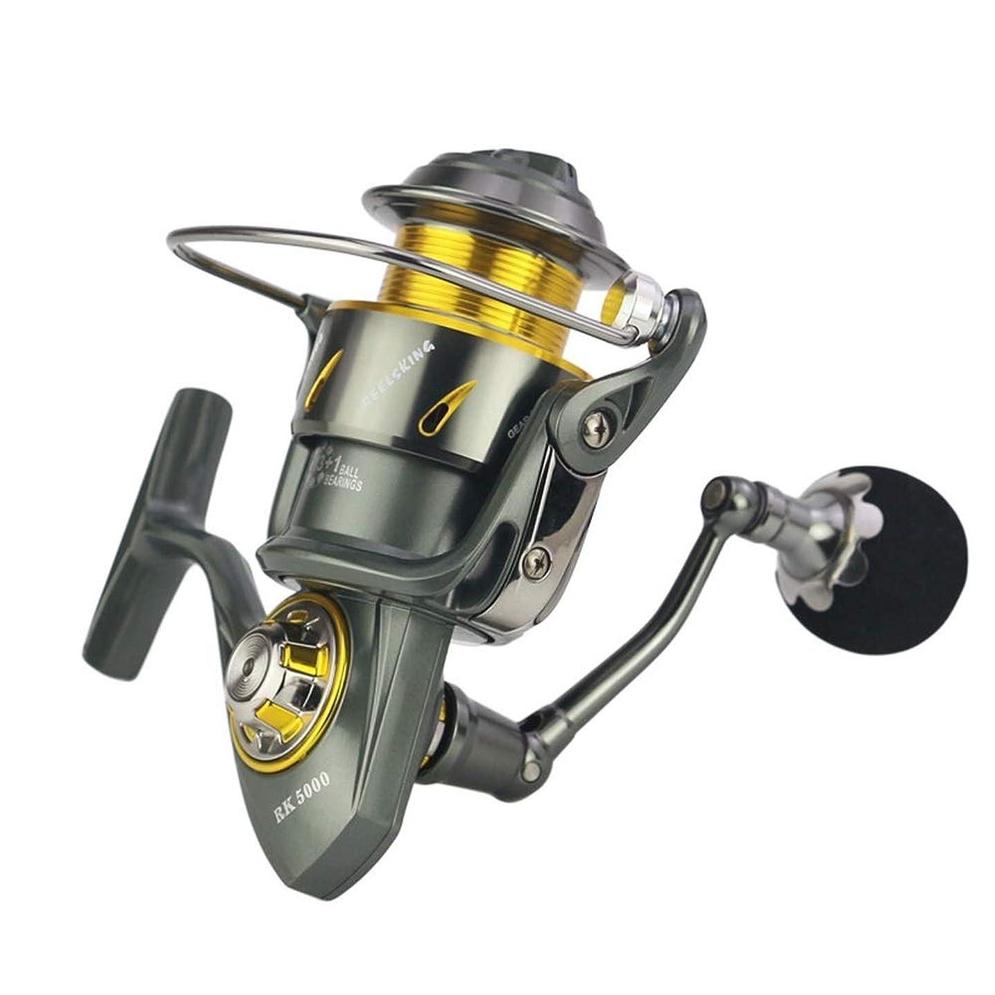 釣りリール 釣りリールフルメタルリール釣り海釣りギア釣りカーボン布ブレーキアンチ海水 (Size : RK6000)