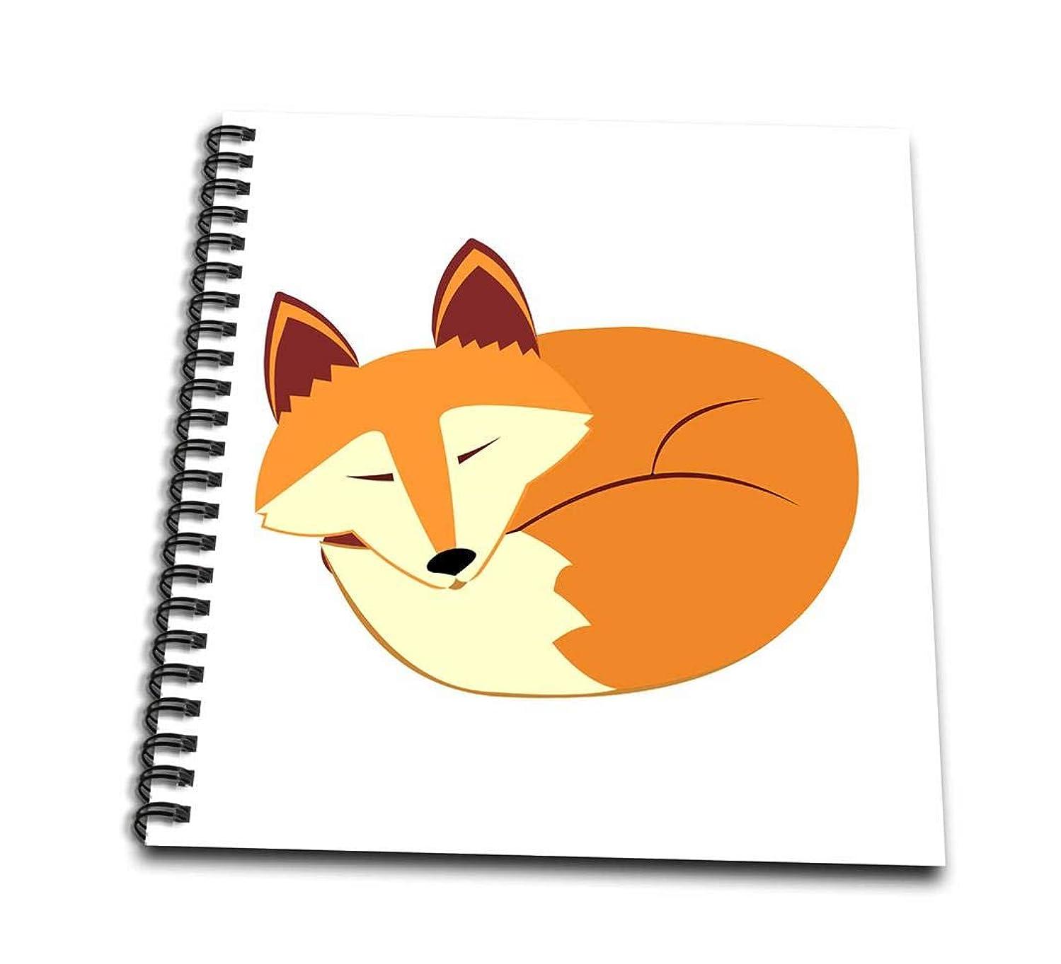 3dRose db_175374_1 Cute Sleeping Red Fox-Drawing Book, 8 by 8-Inch