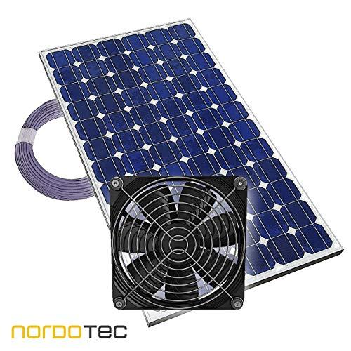 "Gewächshauslüfter Solarlüfter \""Plug & Play\"" Lüfter Solar Treibhaus, 12V, komplett"