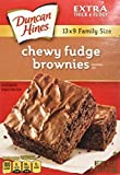 Duncan Hines Chewy Fudge Brownies 18.3oz Family Size - 2 Boxes by Duncan Hines