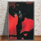 nobrand Japan Anime Comic Film Devilman Heulsuse Geschenk Öl Leinwand Malerei Poster Wandkunst Bilder Dekoration 40 * 60 cm Kein Rahmen