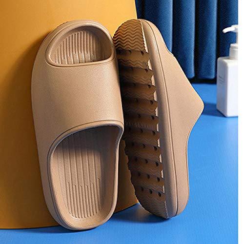 XZDNYDHGX Chanclas Suaves De Casa para Interior JardíN BañO,Zapatillas de Moda de Verano para Mujer, Sandalias deslizantes, Ducha, Gruesos, Hombres, señoras, niños, niñas, Zapatos Caqui EU 39-40