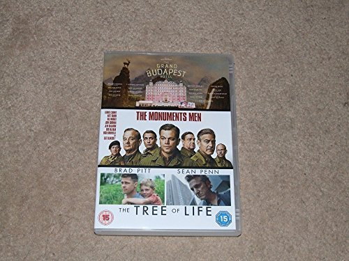 GRAND BUDAPEST HOTEL/THE MONUMENTS MEN/THE TREE OF LIFE - REGION 2 DVD