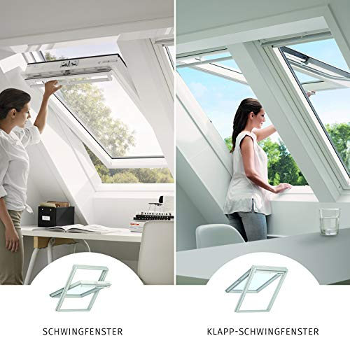 VELUX Dachfenster Kunststoff I Klapp-Schwingfenster GPU 0070 I SK06 | 114x118 cm