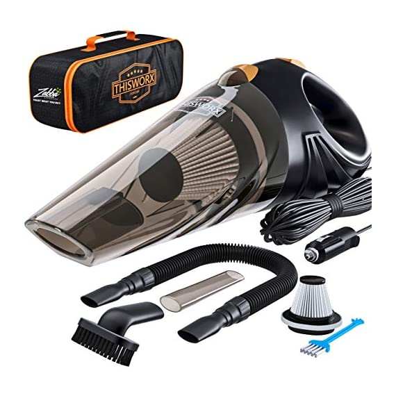 Portable-Car-Vacuum-Cleaner-High-Power-Corded-Handheld-Vacuum-w-16-Foot-Cable-12V-Best-Car-Auto-Accessories-Kit-for-Detailing-and-Cleaning-Car-Interior