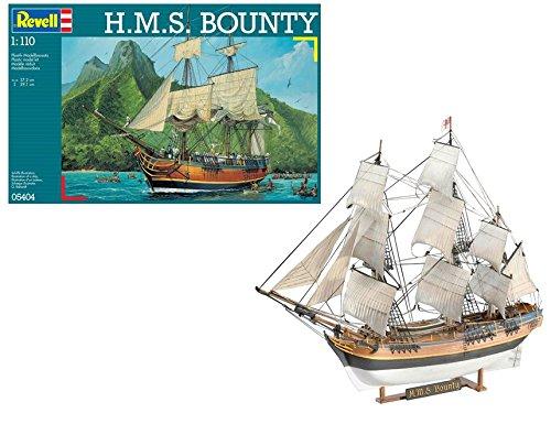 Revell Modellbausatz Schiff 1:110 – H.M.S. Bounty im Maßstab 1:110, Level 5, originalgetreue Nachbildung mit vielen Details, Segelschiff, 05404