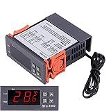 Controlador de Temperatura Digital Termostato STC-1000 Sensor de Control del Enfriador del Calentador Incubación del Acuario de Calibración del Termostato Temperatura de Pantalla Digital 110V-220V