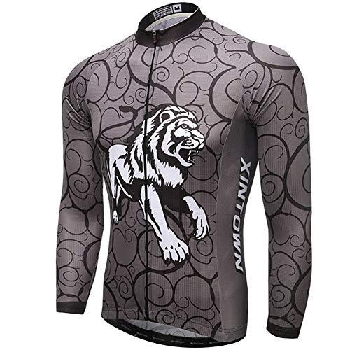 Yu$iOne Fahrradbekleidung Herbst, Hygroskopisch Und SchweißFreisetzende Langarmbluse FüR MäNner Sportbekleidung,10,XL