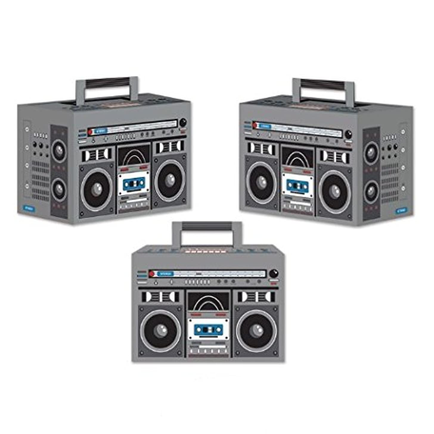 Boom Box Favor Boxes, 4-inch By 5-3/4-inch (1 Count) (3/pkg) Pkg/6