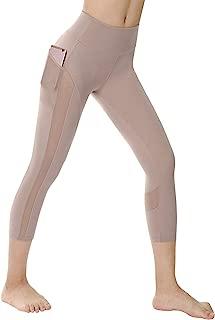 High Waist Yoga Shorts Capri and Leggings with 2 Side Pockets Power Flex Workout Running Yoga Shorts 4 Way Stretch