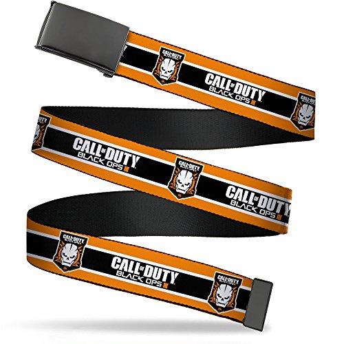 Cinturón para chicos con hebilla de cierre para llamar a la atención, color negro, Call of Duty-black…