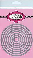 The Stamps of Life サークルダイカット カード作り スクラップブック用品 DIYクラフト - 8つのユニークなサイズのサークルダイカットセット