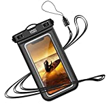 YOSH Waterproof Phone Lanyard Pouch Phone Underwater Bag for iPhone 11 X 8 7 6 SE Galaxy Pixel up to 6.8', for Beach Kayaking Bath Travel
