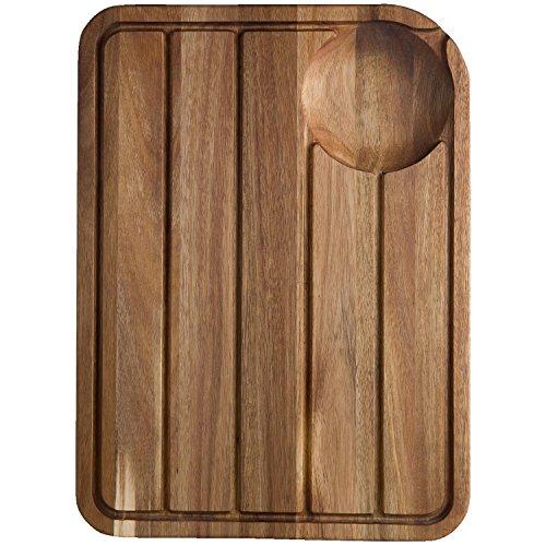 Jamie Oliver jb1903Jo Tagliere con scanalatura Succo System–Tagliere in Legno, in Acciaio Inox, 46x 33,5x 2,5cm