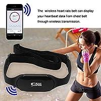 zmart Sunding 防水 Bluetooth 4.0 ワイヤレス 心拍数モニター ハートレート ビート カロリー 脂肪の計算