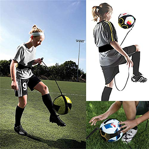 Review Of FHH Soccer Football Kick Throw Trainer Solo Practice Training Aid Control Skills Adjustabl...