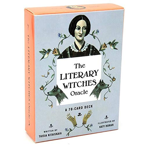 GGSDDDUP The Literary Witches Oracle Tarot, Card Deck 70pcs Inglés Completo, Amigo de la Familia Fiesta Juego de Mesa, Creativo Vida Espiritual Viaje