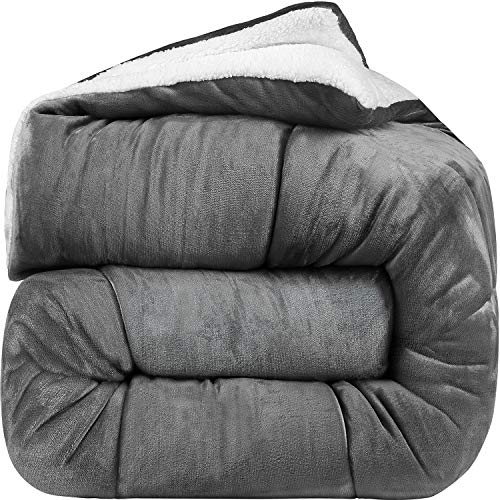 Utopia Bedding - All Season Alternative Fleece Comforter - Down Sherpa...