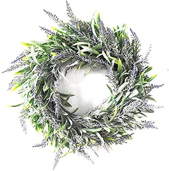 Xigeapg Artificial Flower Garland Silk Lavender Wreath Romantic Fresh Style Wedding Decor For Heads Take Photo Fashion Single Product Purple