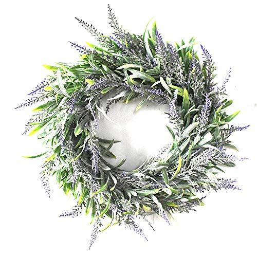 CUHAWUDBA Artificial Flower Garland Silk Lavender Wreath Romantic Fresh Style Wedding Decor For Heads Take Photo Fashion Single Product Purple