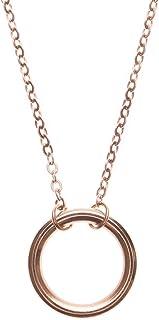 cb74e63759 Envío GRATIS disponible. Happiness Boutique Damas Collar Delicado con Dije  Redondo en Oro Rosa | Collar Minimalista Abierto con