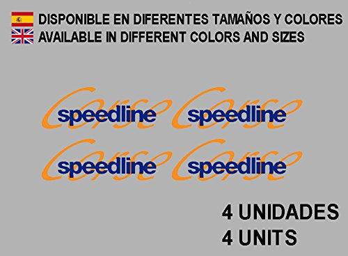 Ecoshirt KO-EZNY-WC5S Pegatinas Speedline Corse Llanta Wheel F102 Stickers Aufkleber Decals Autocollants Adesivi, Azul