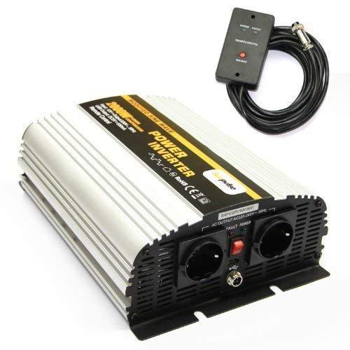 Spannungswandler MS 12V 2000/4000 Watt Inverter Wechselrichter incl. 4,5 m Fernbedienung